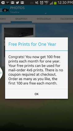 100 Free Photo Prints Each Month for 1 Year from Snapfish