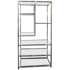 Chrome Milo Baughman Etagere   From a unique collection of antique and modern bookcases at http://www.1stdibs.com/furniture/storage-case-pieces/bookcases/