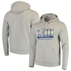 Men s Majestic Heathered Gray Super Bowl LIII Champion Swagger Pullover  Hoodie 344738e12