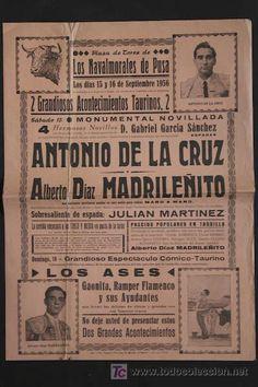 Cartel de Toros. 1956. Los Navalmorales (Toledo)