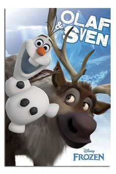 Frozen Olaf And Sven Poster iPosters From £5.99