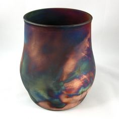 Copper Matte Raku Pottery Vase | Crooked Creek Studio