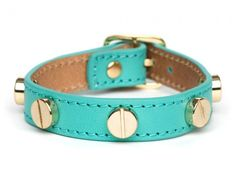 Studded leather bangle bracelet from Baublebar #turquoise #jewelry