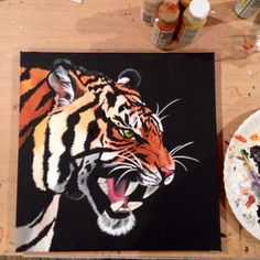 Tiger painting #fierce #roar #LSU