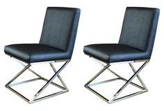 Black Vertigo Dining Chair