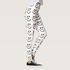 Snowman Face Christmas holidays festive Leggings - tap/click to personalize and buy #Leggings #christmas #festive #holidays #snowman #snowmen Christmas Gifts For Neices, Christmas Decorations For The Home, Christmas Holidays, Leggings Fashion, Women's Leggings, Snowman Faces, Snowmen, Holiday Festival, Look Cool