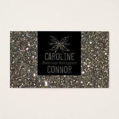 Fashion Designer Silver Glitter Glamour Card