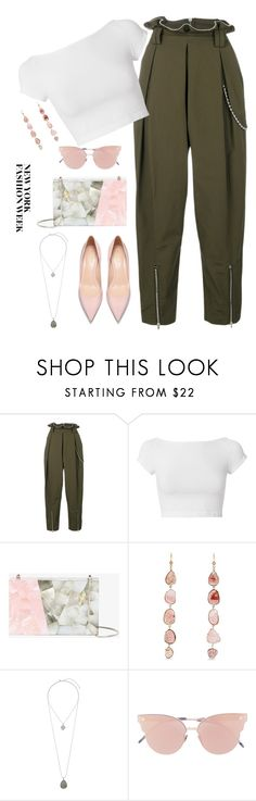 """""""ToI'll always love you To New York and back"""" by icedtealee ❤ liked on Polyvore featuring Alexander Wang, Helmut Lang, Nathalie Trad, Jacquie Aiche, Miss Selfridge, So.Ya and NYFW"""