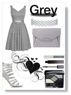 """Grey Date"" by kitty-cat130 on Polyvore featuring Charlotte Russe, Christian Dior, Givenchy and Serge Lutens"