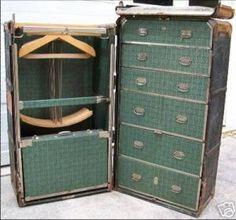 Vintage luggage - mylusciouslife.com - Inside a vintage wardrobe trunk.jpg