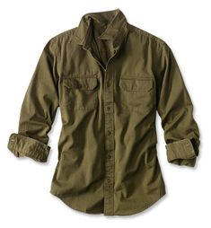 Don't let the hand fool you—this Officer's Twill Shirt is rugged despite its broken-in feel. Mens Work Shirts, Casual Shirts For Men, Men Casual, Tactical Shirt, Tactical Clothing, Casual Outfits, Fashion Outfits, Men's Work Fashion, Korean Fashion