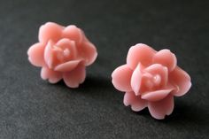 Pink Flower Earrings. Pink Lotus Rose Earrings. Post Earrings. Pink Earrings. Silver Stud Earrings. Pink Lotus Earrings. Handmade Jewelry. by StumblingOnSainthood from Stumbling On Sainthood. Find it now at http://ift.tt/1Yk2Q1t!