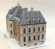 This is the Sceaux Castle, situated in France. This beautiful paper model in 1/280 scale was created by French designer and modeler Pi...