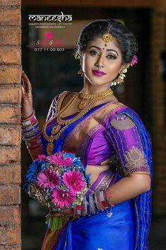 Beautiful Indian Brides in Saree- Exclusive Gallery! Indian Bridal Photos, Indian Bridal Fashion, Indian Wedding Couple Photography, Bride Photography, Beautiful Indian Brides, Beautiful Indian Actress, Beautiful Women, Indian Photoshoot, Wedding Photoshoot