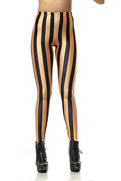 Pinkyee Women's Striped Printed Leggings One Size