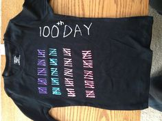 100th Day of School shirt made with puffy paint