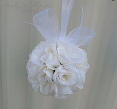 Etsy listing at http://www.etsy.com/listing/151808938/wedding-flower-balls-pomander-white