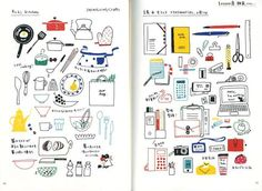 Color Pen Easy  Illustration - Japanese Craft Book for Drawing - eto - Kawaii Motifs - B1067. $23.50, via Etsy.