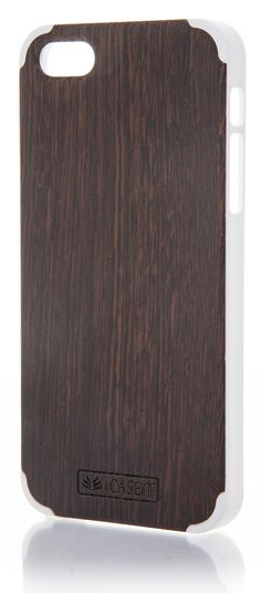 iCASEIT Wood iPhone Case - Genuinely Natural, Unique & Premium quality for iPhone 5 / 5S - Wenge / White