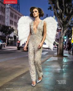 #KeratinComplex was on set for the shoot for Pedram Couture's new line. Those wings are absolutely amazing! Hair styled by @hairbyrenecortez
