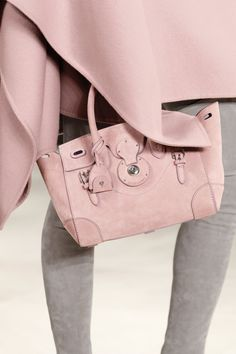 The Ralph Lauren Collection Soft Ricky 27 bag is exquisitely made in Italy from layers of hand-stitched, ultra-soft Italian suede and takes up to eight hours to construct.