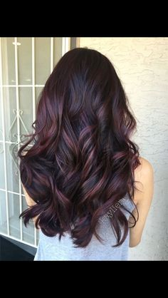 Dark brown with auburn highlights lowlights by jeanette style the one plum hair deep violet base and mahogany violet toned balayage used all pravana pmusecretfo Gallery