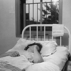 Patient receiving treatment in mental hospital.         Location:    Worchester, MA, US        Date taken:    August 1949