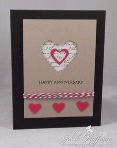 Anniversary Card, CAS, Negative Die Cut Heart