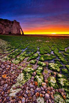 ~~Etretat Sunset ~ Normandy, France by Pepeketua~~