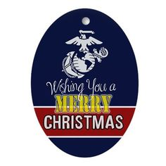 USMC Ornaments : Wishing you a Merry Christmas Marine Style