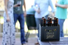 Gift Idea for Him | Beer Greetings 6-Pack Carriers + Greeting Cards in One! So cute - fill it with beer & go!