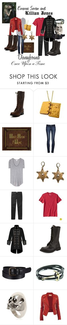 """""""Emma and Killian Disneybound"""" by capamericagirl21 ❤ liked on Polyvore featuring PATRON, Once Upon a Time, DL1961 Premium Denim, Helmut Lang, Acne Studios, Banana Republic, Rick Owens, Uniqlo and Yves Saint Laurent"""