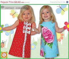 VENTA Adele patrón de costura para niños, las niñas vestido de patrones, patrón de vestido, 2-12y, pdf, patrón Digital, Tutorial, descargar ...