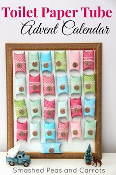 Smashed Peas and Carrots: TUTORIAL: Toilet Paper Tube Advent Calendar.  Put a piece for a Nativity Scene in each?