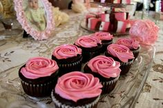 Gluten-free black bean brownie cupcakes with pink icing. No food coloring.... tinted with beets!