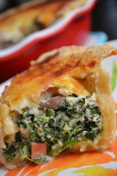 For the Love of Dessert: Spinach, Mushrooms & Ham Quiche Milk Recipes, New Recipes, Dinner Recipes, Cooking Recipes, Favorite Recipes, I Love Food, Good Food, Yummy Food, Ham Quiche