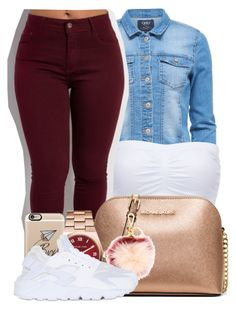 """"""" You know I need you , you messed up cause your partying next door"""" by mindlesspolyvore ❤ liked on Polyvore featuring Charlotte Russe, MICHAEL Michael Kors, Casetify, Michael Kors and NIKE"""