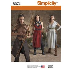 Simplicity Pattern 8074 Misses' Warrior Costumes (Danaerys)