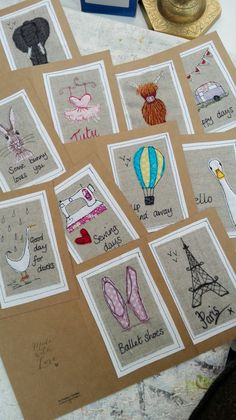 Lots of handmade cards using freehand embroidery by Su Parkes Textiles Embroidery Cards, Free Motion Embroidery, Freehand Machine Embroidery, Free Machine Embroidery, Sewing Crafts, Sewing Projects, Fabric Cards, Freebies, Sewing Appliques