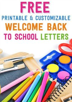Free Printable and Customizable Welcome Back to School Letters - Hard working teachers, here's a freebie for you! Make things a little easier on yourself and all the harried parents out there by getting a jump on the back to school season and sending welcome back to school letters to your future students and/or their parents.