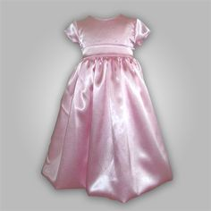 Bloomington Balloon - Crepe Satin Dress with Balloon Skirt Picture Bright Pink though for the Maid of Honor (Kaylee) and Flower girl (Ashlyn