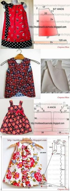 39 Super Ideas For Dress Pattern Baby Moda The Effective Pictures We Offer You About baby dress patt Baby Dress Tutorials, Baby Dress Patterns, Sewing Patterns Girls, Clothing Patterns, Skirt Patterns, Coat Patterns, Blouse Patterns, Little Dresses, Little Girl Dresses