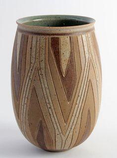 Per Rehfeldt, stoneware, own studio in Gudhjem, Bornholm, Denmark. Sold on Ebay.