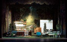 Diorama #furniture #display #shop #windows #forest #garden