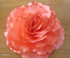 Мастер-класс Гильоширование, Моделирование, Цумами Канзаши: МК распустившаяся роза Ленты. Фото 1