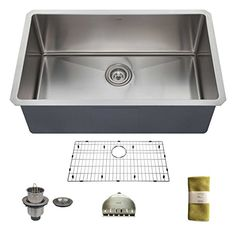 239.00 on Amazon Zuhne 30 Inch Undermount Single Bowl 16 Gauge Stainless Steel Kitchen Sink Zuhne http://www.amazon.com/dp/B00OZXCR0Y/ref=cm_sw_r_pi_dp_TGRaxb1KV3P8B