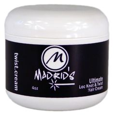Madrid's Ultimate Loc Knot Twist Cream (Curl Lock) 4 oz. -- This is an Amazon Affiliate link. Want to know more, click on the image.