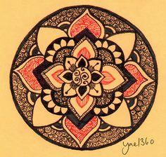 Orange Power Mandala by ~yael360 on deviantART
