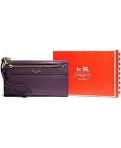 COACH LEGACY ZIPPY WALLET IN LEATHER - COACH - Handbags & Accessories - Macy's