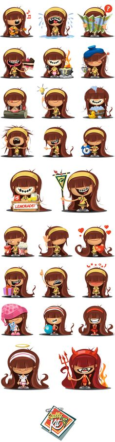 Sally! . Emoticons Set on Behance
